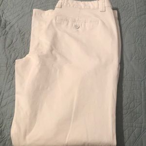 White relaxed for khaki pants
